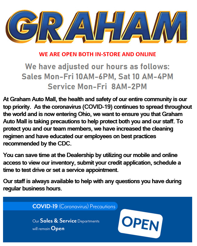 Graham Auto Mall Is OPEN